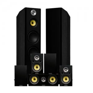Signature Series Surround Sound Home Theater 7.0 Channel Speaker System - Black Ash