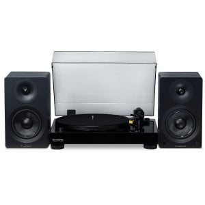 "Classic High Fidelity Vinyl Turntable with Ai40 5"" Powered Bookshelf Speakers"