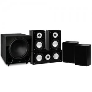 Reference Series Compact Surround Sound Home Theater 5.1 Channel Speaker System - Black Ash