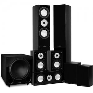 Reference Series Surround Sound Home Theater 7.1 Channel Speaker System - Black Ash