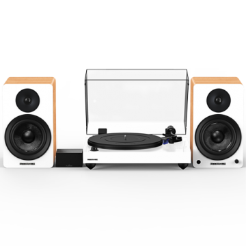 """Reference RT84 High Fidelity Vinyl Turntable with PA10 Phono Preamp and Ai61 Powered 6.5"""" Stereo Bookshelf Speakers"""