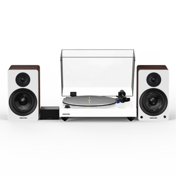 """Reference RT85 High Fidelity Vinyl Turntable with PA10 Phono Preamp and Ai41 Powered 5"""" Stereo Bookshelf Speakers"""