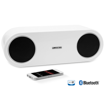 Fi30 High Performance Bluetooth Wood Speaker System  - Glacier White
