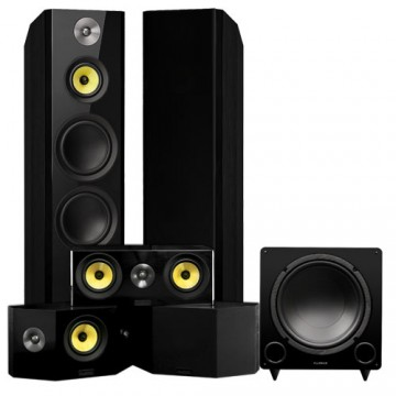Signature HiFi Surround Sound Home Theater 5.1 Channel Speaker System with Bipolar Speakers
