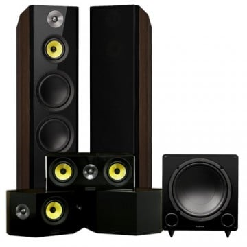 Signature Hi-Fi 5.1 Home Theater Speaker System with Bipolar Speakers