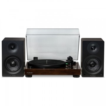 "RT81 Elite High Fidelity Vinyl Turntable with Ai40 5"" Powered Bookshelf Speakers"