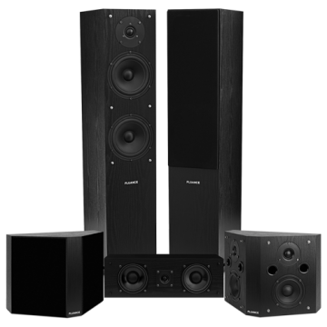 Classic Elite Home Theater System with Bipolar Speakers - Black