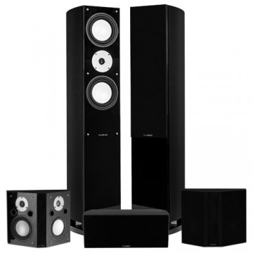 Reference Series Surround Sound Home Theater 5.0 Channel Speaker System