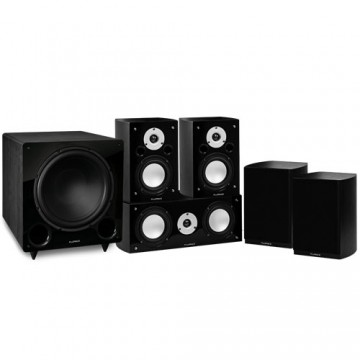 Reference Series Compact Surround Sound Home Theater 5.1 Channel Speaker System
