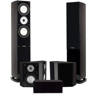 Reference Series 5.0 Home Theater System with Bipolar Speakers- Dark Walnut