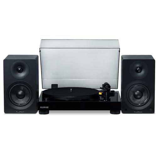 "Classic High Fidelity Vinyl Turntable with Ai40 5"" Powered Bookshelf Speakers"