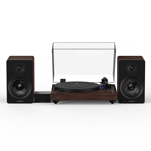 """Reference RT84 High Fidelity Vinyl Turntable with PA10 Phono Preamp and Ai41 Powered 5"""" Bookshelf Speakers - Thumbnail"""