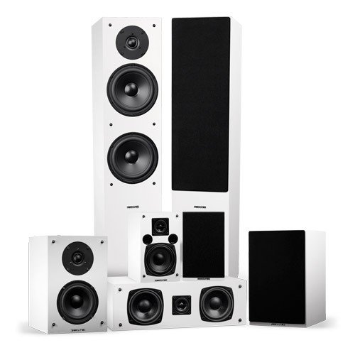 Elite Series Surround Sound Home Theater 7.0 Channel Speaker System - White - Small