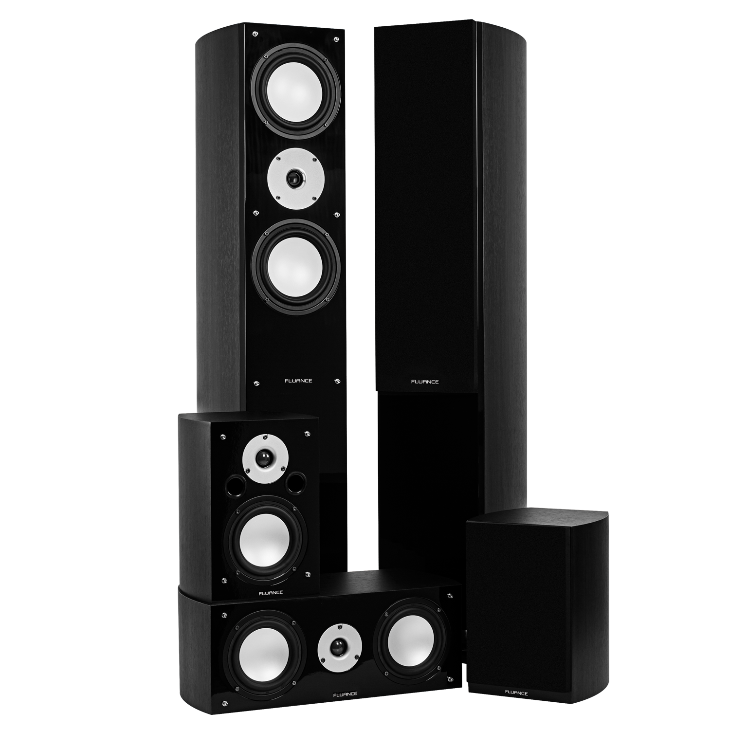 High Performance 5 Speaker Surround Sound Home Theater System - Black Ash