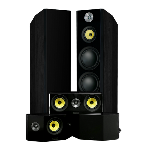 Signature Hi-Fi 5.0 Home Theater Speaker System with Bipolar Speakers