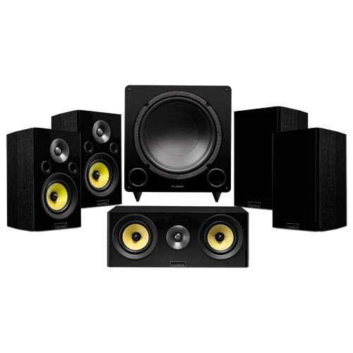 Signature Series Compact Surround Sound Home Theater 5.1 Channel Speaker System - Black Ash