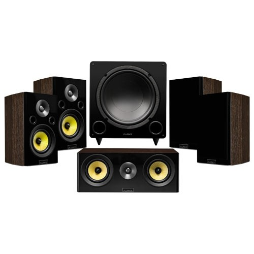 Signature Series Compact Surround Sound Home Theater 5.1 Channel Speaker System - Walnut