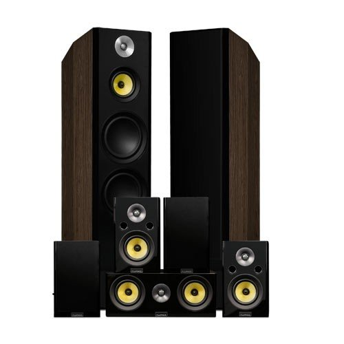 Signature Series Natural Walnut Surround Sound Home Theater 7.0 Channel Speaker System - Alternate