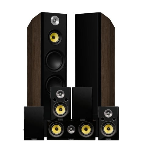 Signature Series Surround Sound Home Theater 7.0 Channel Speaker System - Walnut