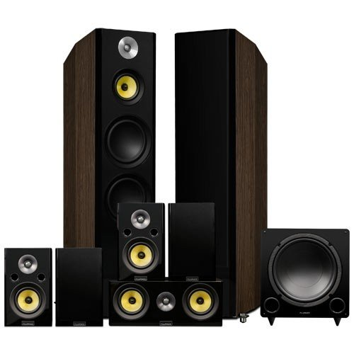 Signature Series Natural Walnut Surround Sound Home Theater 7.1 Channel Speaker System - alternate