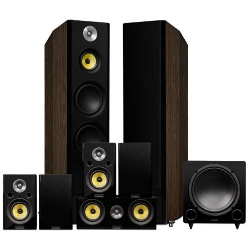 Signature Series Surround Sound Home Theater 7.1 Channel Speaker System - Walnut