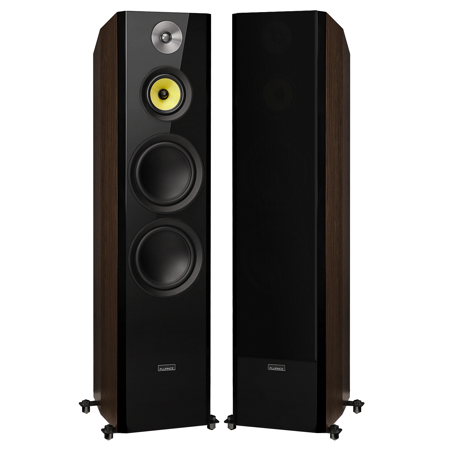 Fluance HFFW Dark Walnut Signature Series Florostanding Speakers