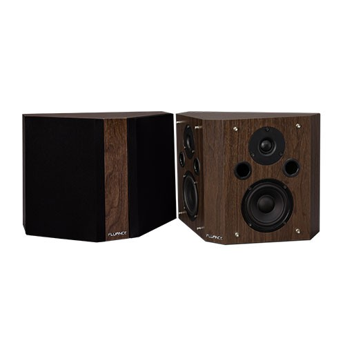 SXBP High Definition Bipolar Surround Sound Speakers -  Dark Walnut