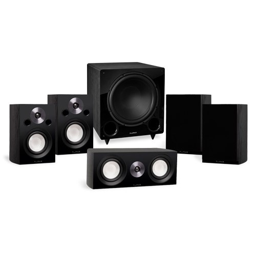 Reference Compact Surround Sound Home Theater 5.1 Channel Speaker System with DB12 Subwoofer - Alternative 1