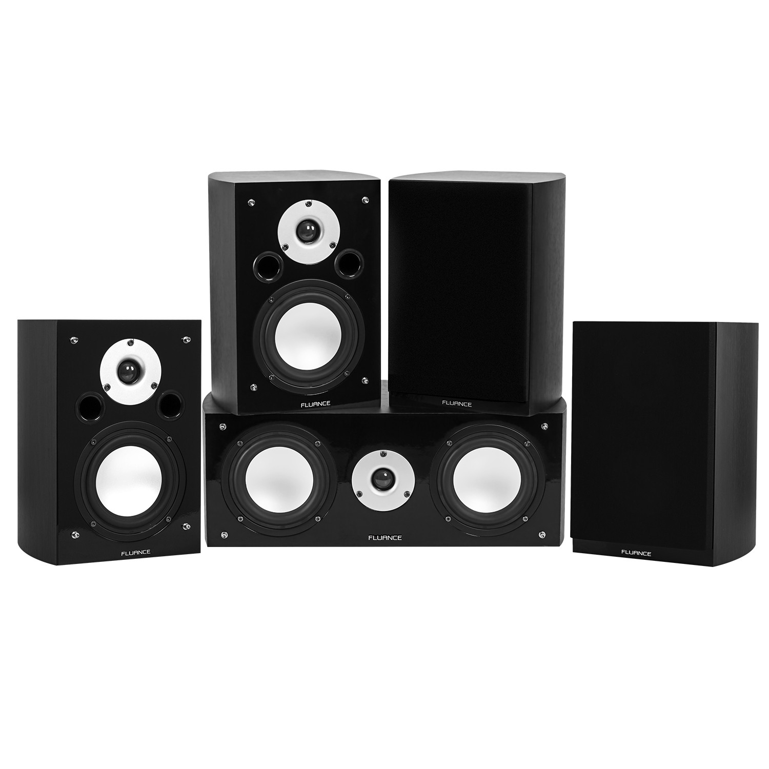 Reference Series Black Ash Compact Surround Sound Home Theater 5.0 Channel Speaker System