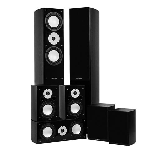 Reference Series Black Ash Surround Sound Home Theater 7.0 Channel Speaker System - Alternate