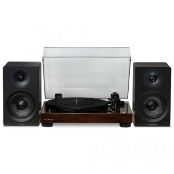 "RT81 Elite High Fidelity Vinyl Turntable with Ai41 Powered 5"" Stereo Bookshelf Speakers"