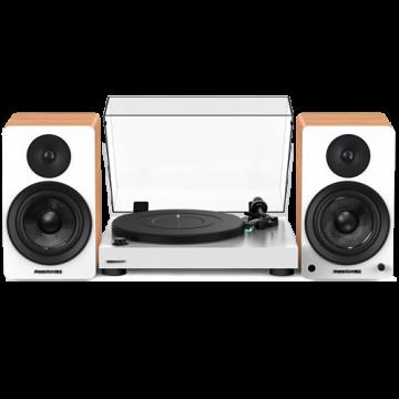 "RT81 Elite High Fidelity Vinyl Turntable with Ai61 Powered 6.5"" Bookshelf Speakers"
