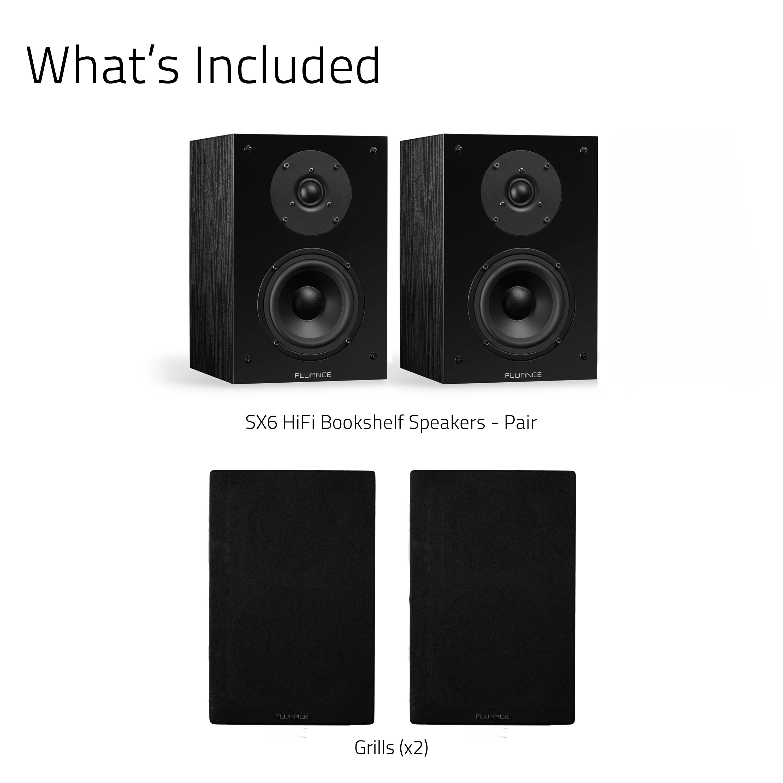 Elite High Definition 2-Way Bookshelf Surround Sound Speakers