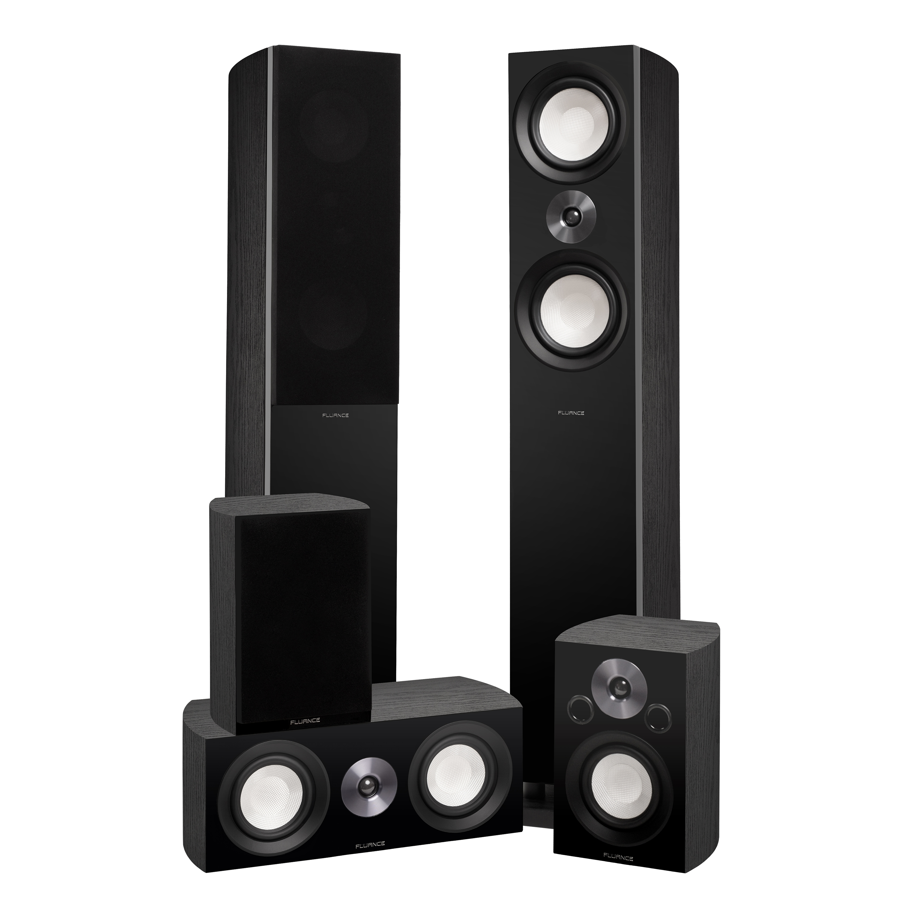Reference Surround Sound Home Theater 5.0 Channel Speaker System