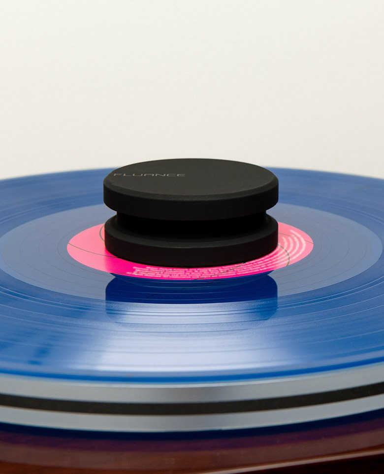 Fluance HiFi Vinyl Record Weight 760 Gram LP Disc Stabilizer Turntable Accessory